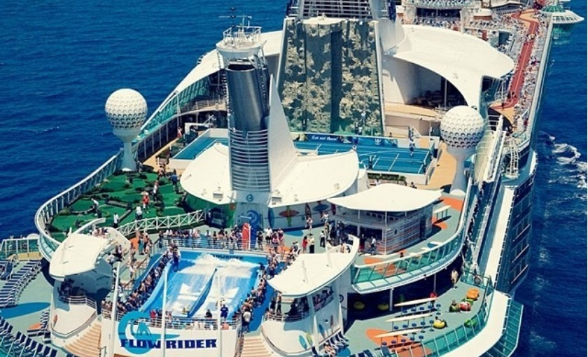 Sport deck op de Oasis of the Seas