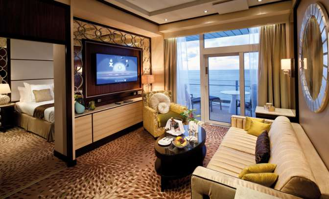 Een suite op de Celebrity Reflection van Celebrity cruises