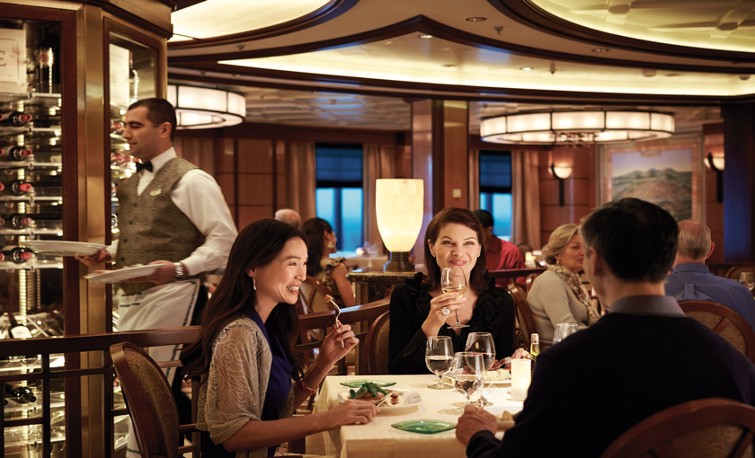 Een diner op de Regal Princess van Princess Cruises