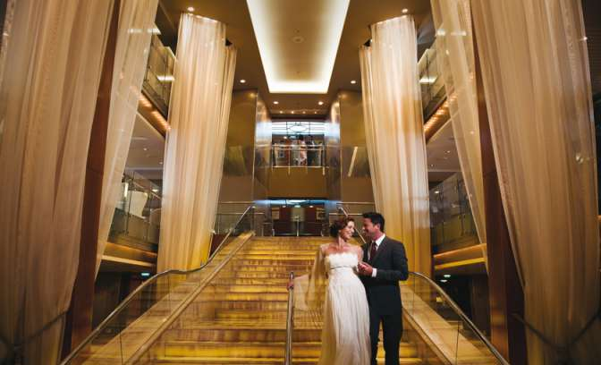 Grand foyer op het cruiseschip Celebrity Constellation