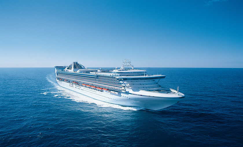 De Grand Princess van Princess Cruises