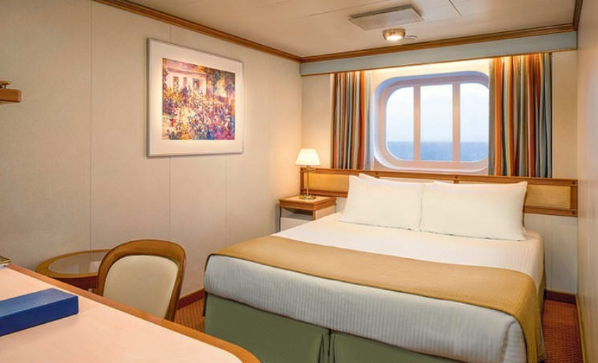 Een buitenhut op de Grand Princess van Princess Cruises