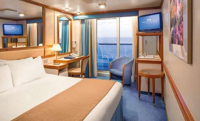 Een balkonhut op de Grand Princess van Princess Cruises