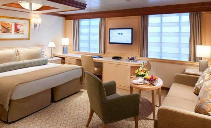 Een suite op de Coral Princess van Princess Cruises